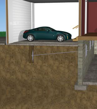 Graphic depiction of a street creep repair in a Crossett home